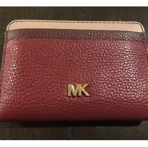 Michael Kors small tricolor leather wallet cards